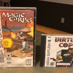 Magic Carpet & Virtua Cop for Sega Saturn