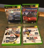 Racing & Sports Titles for Xbox – Forza Motorsport, Project Gotham Racing 2, NCAA Football 2005, NCAA Football '06